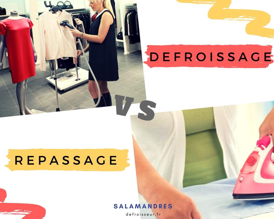 defroissage vs repassage