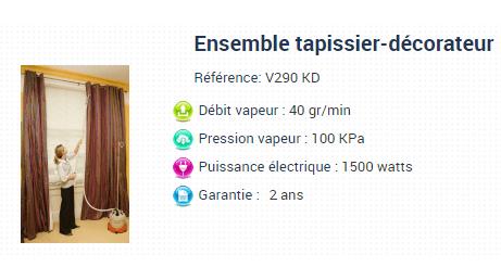 défroisseur vapeur Propress avec kit draperie