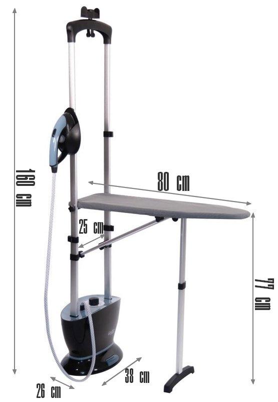 les dimensions du defroisseur g600el ouvert